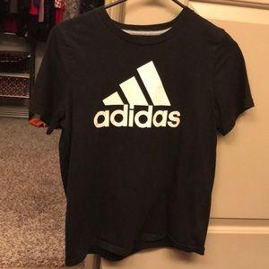 Black adidas shirt & White adidas shirt